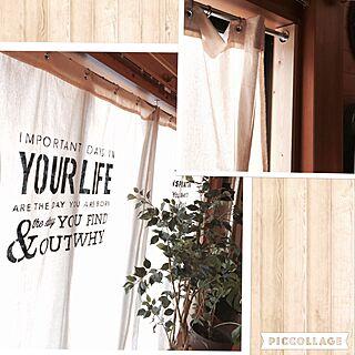 女性家族暮らし、リネンカフェカーテンに関するmamyuさんの実例写真