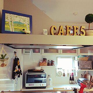 キッチン/キッチンペーパー/IKEA/観葉植物/アルファベットオブジェ...などのインテリア実例 - 2015-02-03 09:09:21