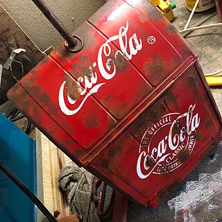 サビ塗装/coca-cola/チリトリ/男前/カフェ風...などのインテリア実例 - 2019-09-07 17:57:16