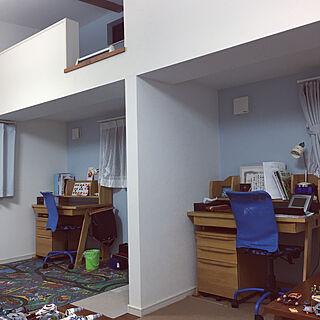 サックスブルー/ロフトのある部屋/IKEA/IKEAの椅子/アクタス 勉強机...などのインテリア実例 - 2020-03-29 00:06:27