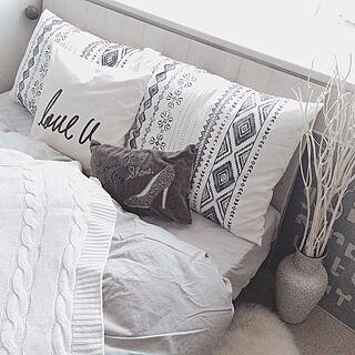 ベッド周り/寝室/Francfranc/IKEA/ブランケット...などのインテリア実例 - 2016-10-21 20:49:00