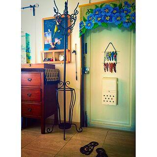 玄関/入り口/チェスト/黒板/靴ベラ/ビーズのれん...などのインテリア実例 - 2016-05-22 13:29:04