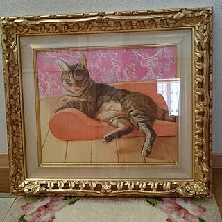 女性家族暮らし4LDK、油絵に関するlilyさんの実例写真