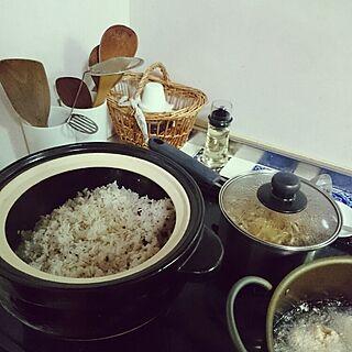 キッチン/いつもいいね!ありがとうございます♪/晩御飯の支度/こんばんは+*。/長谷園の土鍋のインテリア実例 - 2015-12-01 19:52:58