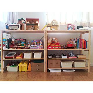 棚/子供部屋/収納/おもちゃ収納/IKEA...などのインテリア実例 - 2017-11-04 21:11:47