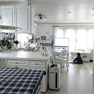 女性の、、家族住まいの「キッチン」についてのインテリア実例