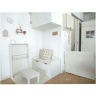 女性家族暮らし、すっきり可愛い冷蔵庫*に関するp..cさんの実例写真