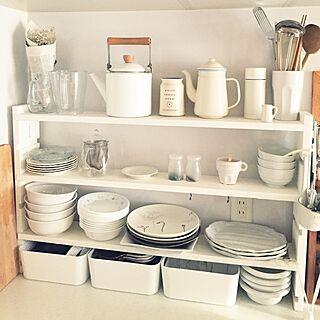 女性39歳の家族暮らし3LDK、コレール皿に関する31さんの実例写真