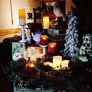 クリスマスディスプレイ/クリスマス飾り/クリスマス雑貨/照明/cuddly cafe...などのインテリア実例 - 2019-11-11 00:22:48