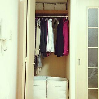 女性の、1K、一人暮らしの「棚」についてのインテリア実例