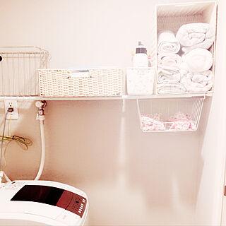 バス/トイレ/洗濯ネット/つっぱり棒/洗濯機/脱衣所...などのインテリア実例 - 2018-03-09 06:22:33