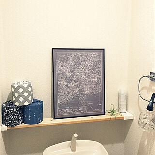 男性の、2LDK、シェア住まいの「バス/トイレ」についてのインテリア実例