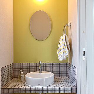 女性38歳の家族暮らし2LDK、2階手洗いに関するNatsumiさんの実例写真