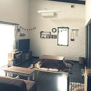 女性36歳の家族暮らし4LDK、テレビボードリメイクに関する----emi24さんの実例写真