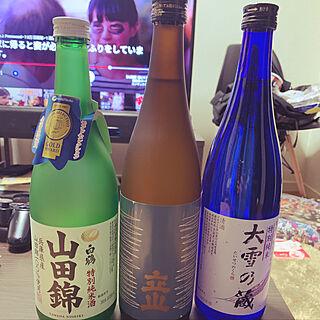 男性39歳の一人暮らし1LDK、日本酒に関するFujiikeさんの実例写真