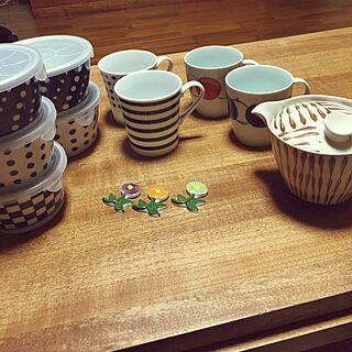 女性家族暮らし、陶器の容器に関するa.kerochan6さんの実例写真