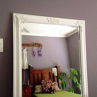 ベッド周り/大きな鏡/観葉植物 /木の家具のインテリア実例 - 2014-02-15 22:35:44