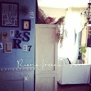 リビング/フレンチシックな腰壁作ったよ/フレンチシックな家作り。/ブログやってます♪/雑誌の取材...などのインテリア実例 - 2014-03-23 13:19:02