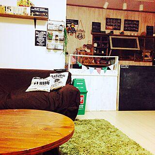 部屋全体/ラグマット/丸いテーブル/円卓/DIY...などのインテリア実例 - 2015-07-09 21:41:10