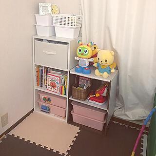 女性家族暮らし3LDK、おもちゃ 収納に関するmajoko14さんの実例写真