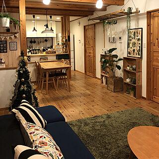 部屋全体/momo natural/ウンベラータ/グリーンコーナー/IKEAクッション...などのインテリア実例 - 2017-11-13 00:13:49