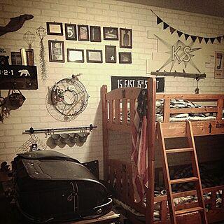 ベッド周り/子供部屋/DIY/釘と糸/フレーム...などのインテリア実例 - 2015-04-11 22:37:46