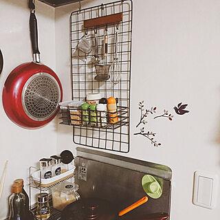 女性一人暮らし1R、Kitchen セリアに関するmotsuko0818さんの実例写真