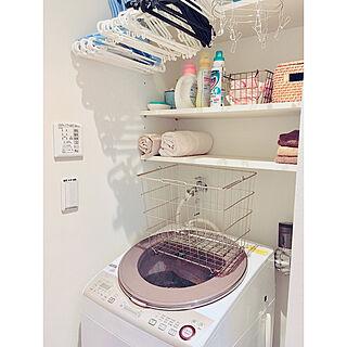 女性30歳の家族暮らし3LDK、洗濯に関するnekomusumeさんの実例写真