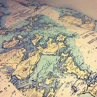 一人暮らし1K、地図柄に関する029さんの実例写真