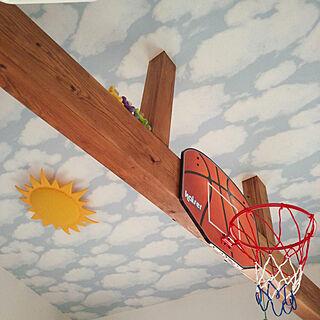 壁/天井/そらの壁紙/はり/太陽の照明??/バスケットゴールのインテリア実例 - 2017-09-03 09:16:49
