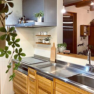 キッチン/ウッドワン スイージー/ウッドワン/大人ナチュラル/珪藻土の壁...などのインテリア実例 - 2018-02-03 20:44:30