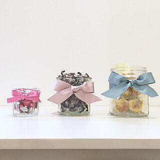 女性家族暮らし、お菓子の瓶に関するchibimuさんの実例写真