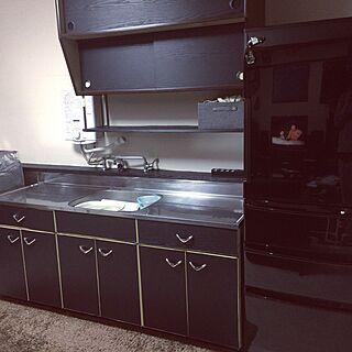 男性の、3DK、家族住まいの「キッチン」についてのインテリア実例
