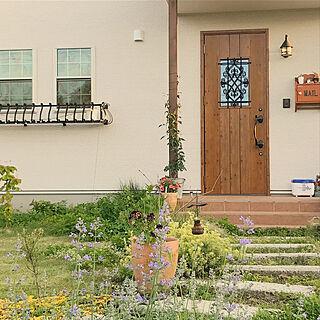 玄関/入り口/私の庭/花壇/アメリカン/庭...などのインテリア実例 - 2018-05-20 20:22:50