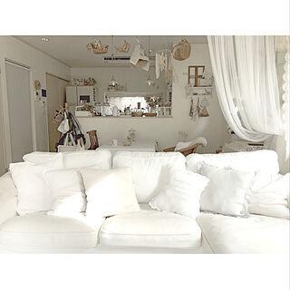 女性家族暮らし3LDK、ソファ/椅子に関するmikaさんの実例写真