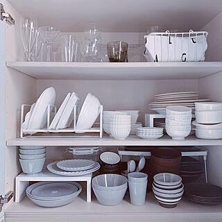 キッチン収納/収納/食器収納/食器/食器棚...などのインテリア実例 - 2019-04-09 21:17:52