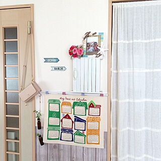女性39歳の家族暮らし3LDK、インターホンに関するkaoさんの実例写真