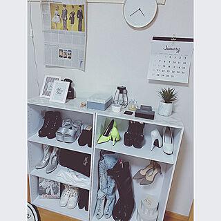女性26歳の家族暮らし2LDK、靴収納に関するchappiさんの実例写真