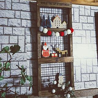 壁/天井/クリスマス/クリスマスディスプレイ/クリスマス飾り/クリスマス雑貨...などのインテリア実例 - 2019-11-14 12:42:44