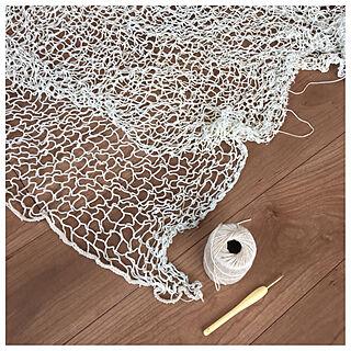 ベッド周り/吹き抜け/リビング階段/かぎ針編み/編み物...などのインテリア実例 - 2018-03-23 12:09:54