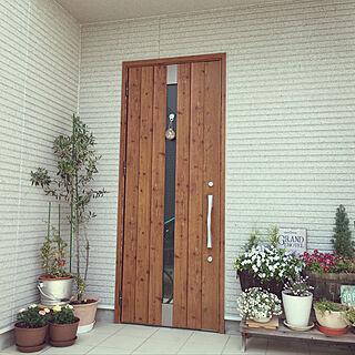 カフェ風/鉢植えガーデン/木製ドア/グリーンインテリア/グリーンのある暮らし...などのインテリア実例 - 2019-05-15 16:57:57