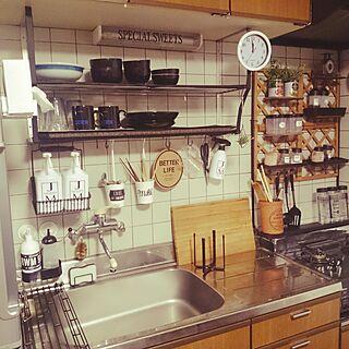 キッチン/水切りかごのないキッチン/三角コーナーのないキッチン/クローシェ/tower水切りラック...などのインテリア実例 - 2016-12-19 00:04:29