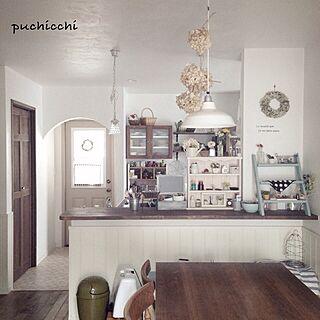 女性家族暮らし4LDK、紫陽花リースに関するpuchicchiさんの実例写真