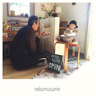 女性30歳の家族暮らし3LDK、ダイソー キッズキッチンに関するnekomusumeさんの実例写真