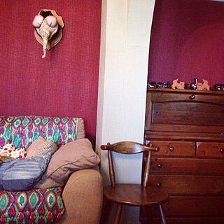 壁/天井/アメリ/ペンキ塗り替え/好奇心の小部屋/H.P.DECO/雑貨...などのインテリア実例 - 2014-08-21 05:55:02