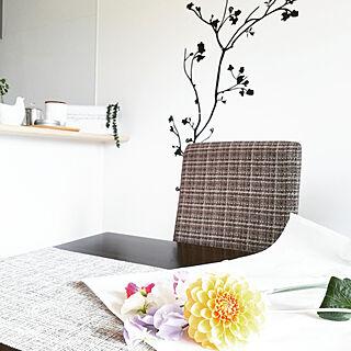 女性34歳の家族暮らし2LDK、お花型に関するmiAさんの実例写真