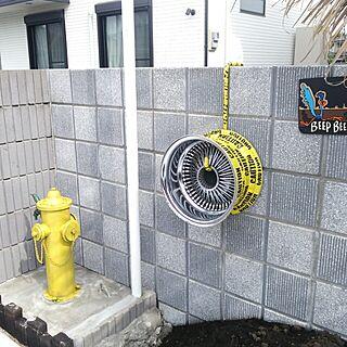 壁/天井/DIY/雑貨/ホイールディスプレイ/水道手作り/消火栓オブジェのインテリア実例 - 2015-06-11 12:02:17