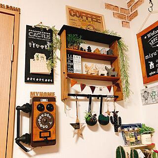 棚/サボᒼᑋªⁿ♥︎大好き/編みSABOᒼᑋªⁿ♥︎/yuri画伯のアート♥/ミンネで購入...などのインテリア実例 - 2018-01-09 07:20:35
