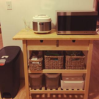 キッチン/ゴミ袋収納/キャットフード収納/かご収納/IKEA...などのインテリア実例 - 2017-10-06 09:54:05