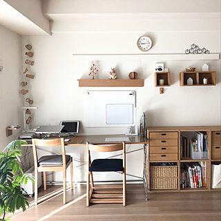 ガーランド/IKEA/ワークスペース/暮らしを整える/マンション...などのインテリア実例 - 2020-12-07 17:38:42
